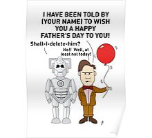 Doctor Who Father's Day Card (Personalised) Poster