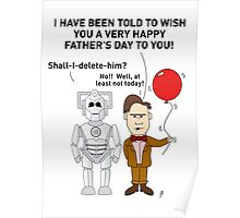 Doctor Who Father's Day Card 1 Poster
