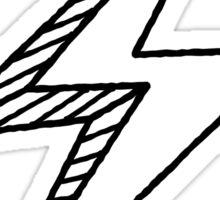 Hand drawn lightning bolt Sticker
