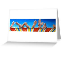 8 1/2 Feet Greeting Card
