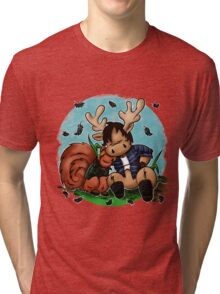 Moose and Squirrel Tri-blend T-Shirt