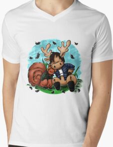 Moose and Squirrel Mens V-Neck T-Shirt