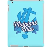 Midnight blue with blue anchor NAVY iPad Case/Skin