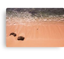 Looking Down At The Waves And Sea Shell Canvas Print
