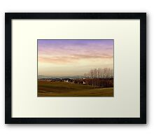 Beautiful panorama under a cloudy sky | landscape photography Framed Print