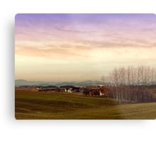 Beautiful panorama under a cloudy sky | landscape photography Metal Print