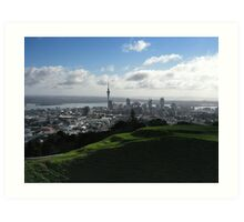 Auckland With Mt. Eden Art Print
