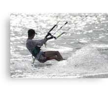 Close-up of male kite surfer in cap Canvas Print