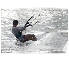 Close-up of male kite surfer in cap Poster