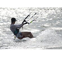 Close-up of male kite surfer in cap Photographic Print