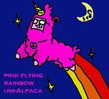 Pink -Flying-Rainbow-Uni Alpaca by Digitbite