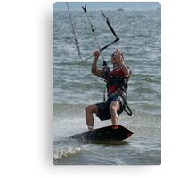 Close-up of male kite surfer looking up Canvas Print