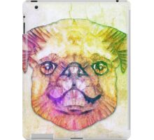 abstract pug puppy  iPad Case/Skin