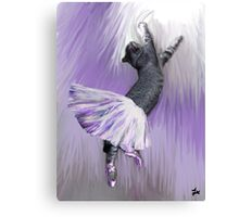 Les Pointes, Lil Grey in Purple Canvas Print