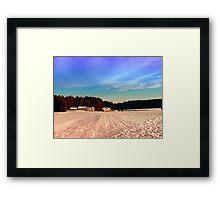 Amazing vivid winter wonderland | landscape photography Framed Print