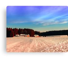 Amazing vivid winter wonderland   landscape photography Canvas Print