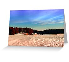 Amazing vivid winter wonderland | landscape photography Greeting Card