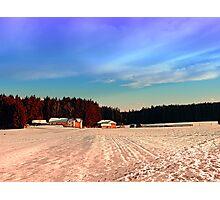 Amazing vivid winter wonderland | landscape photography Photographic Print