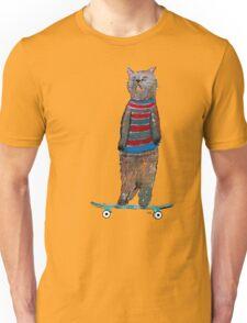 the cat skate  Unisex T-Shirt