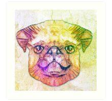 abstract pug puppy  Art Print