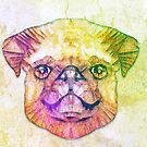 abstract pug puppy  by Ancello