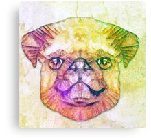 abstract pug puppy  Canvas Print