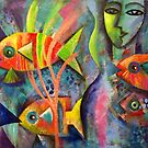 New fish painting by Karin Zeller