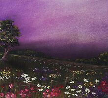 Purple Meadow by Anastasiya Malakhova