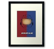 Red Vs Blue Poster Framed Print