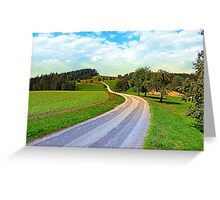 Apple trees along the country road | landscape photography Greeting Card