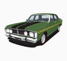 Ford Falcon XY GT - Monza Green by antdragonist
