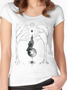 Looking Beyond - A Magical Grackle  Women's Fitted Scoop T-Shirt