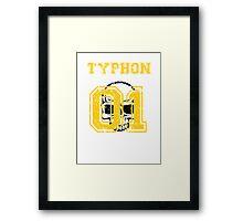 Team Captain: Typhon Framed Print