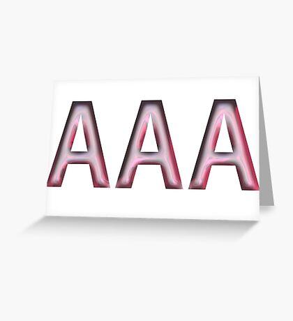 AAA-bra Greeting Card