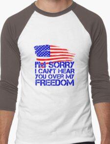My Freedom American Flag Men's Baseball ¾ T-Shirt