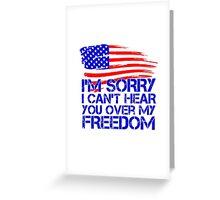 My Freedom American Flag Greeting Card