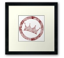 Crowley the King Framed Print
