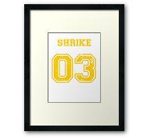 Team Captain: Shrike Framed Print