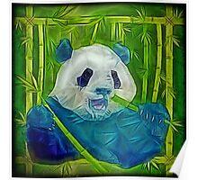 abstract panda Poster