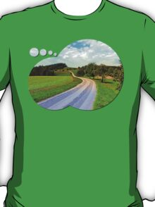 Apple trees along the country road | landscape photography T-Shirt