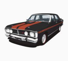 Ford Falcon XY GT - Onyx Black by antdragonist