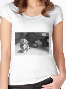 Tiny Kitten (Clothing Products) Women's Fitted Scoop T-Shirt