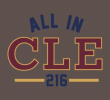 All in CLE 216 Baby Tee