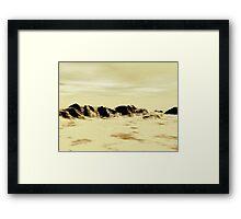 Sand Desert Framed Print