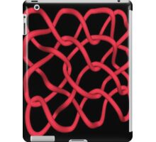 Tangled Red Wire on Black iPad Case/Skin