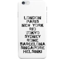 Been there, and there, and there too...! iPhone Case/Skin