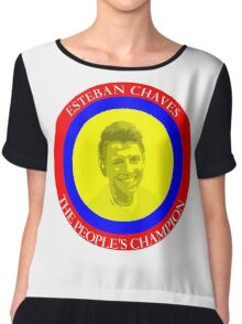 ESTEBAN CHAVES THE PEOPLE'S CHAMPION Chiffon Top