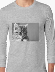 Black and White Kitten (Clothing Products) Long Sleeve T-Shirt