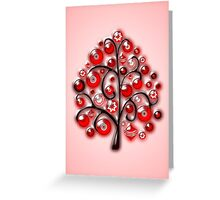 Red Glass Ornaments Greeting Card