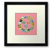 Pokécircle Framed Print